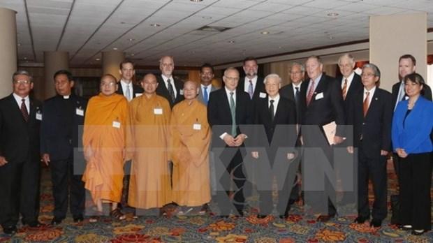 Lider partidista conversa con dignatarios religiosos de EE.UU hinh anh 1