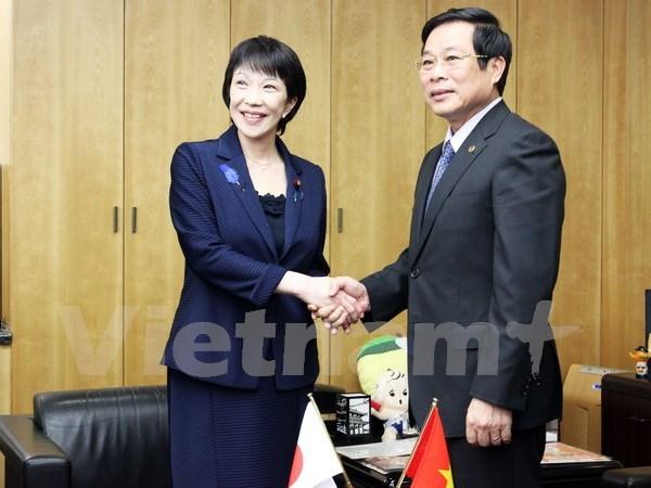 Vietnam y Japon robustecen lazos en correos y telecomunicacion hinh anh 1