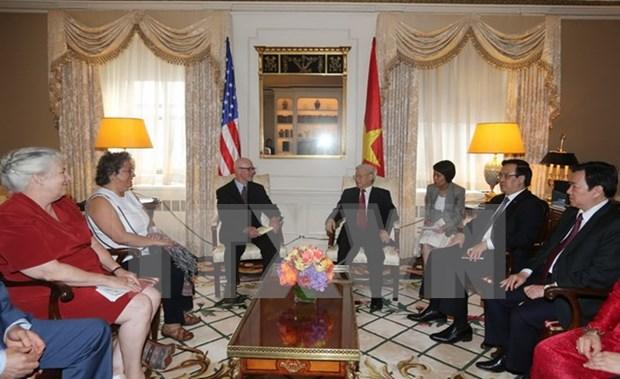 Prensa alemana destaca visita a Washington de lider partidista vietnam hinh anh 1