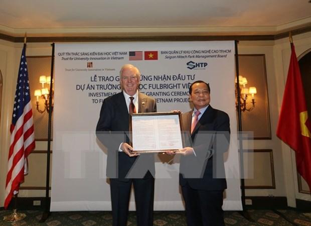 Universidad Fulbright obtiene licencia de inversion en Vietnam hinh anh 1