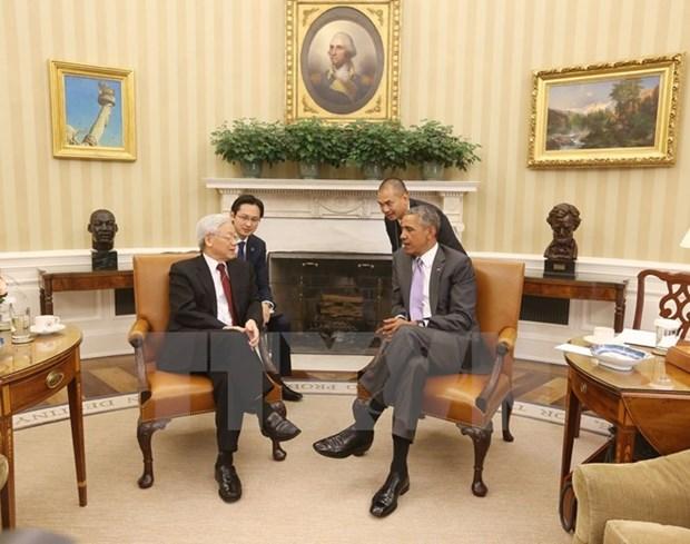 Visita de secretario general de PCV: muestra de confianza Vietnam- EE hinh anh 1