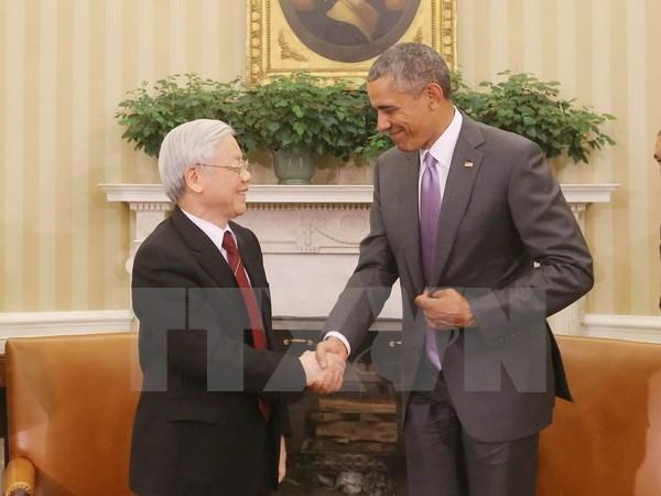 Senalan fruto de visita a EE.UU. del lider partidista vietnamita hinh anh 1