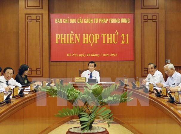 Presidente instruye reforma de sistema judicial hinh anh 1