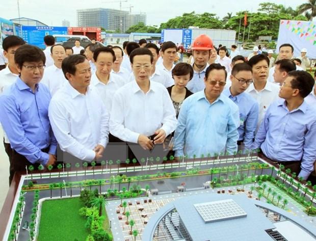 Vicepremier chino visita Palacio de Amistad Vietnam- China hinh anh 1