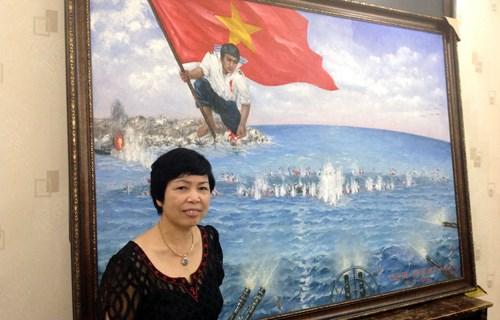 Ofertas crecen en visperas de subasta de pintura sobre Gac Ma hinh anh 2