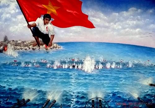 Ofertas crecen en visperas de subasta de pintura sobre Gac Ma hinh anh 1