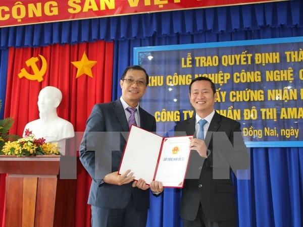 Construyen en Dong Nai primer parque industrial de alta tecnologia hinh anh 1