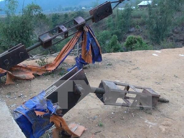 Condenados sujetos responsables de colapso de puente en Lai Chau hinh anh 1