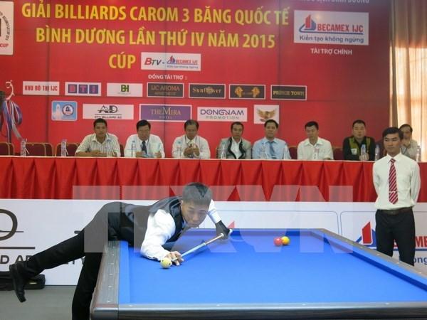Abierto torneo internacional de billar carambola en Binh Duong hinh anh 1