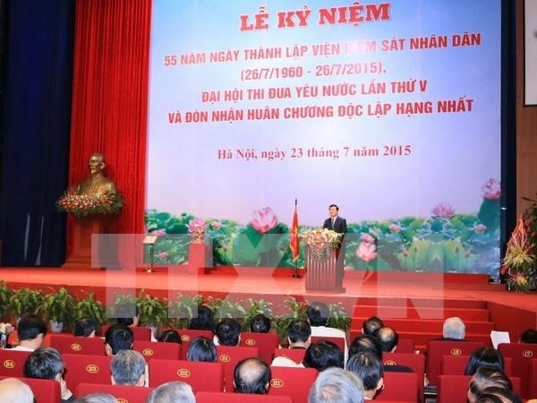 Presidente elogia logros de la fiscalia nacional hinh anh 1