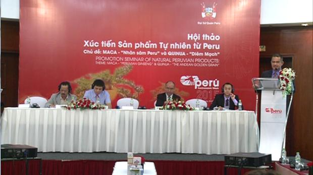 Promueven en Hanoi productos naturales de Peru hinh anh 1