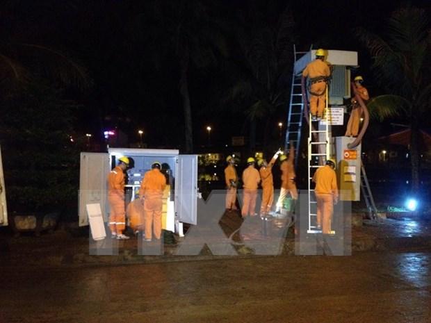 Restablecen suministro electrico en Quang Ninh hinh anh 1
