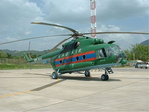 Laos recupera cadaveres del avion militar Mi17 hinh anh 1