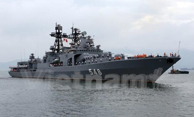 Flota de la Armada rusa visita Da Nang hinh anh 1