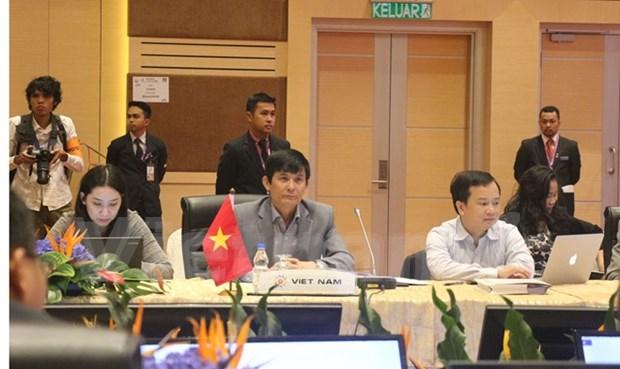 Funcionarios de ASEAN se reunen en preparacion para AMM 48 hinh anh 1
