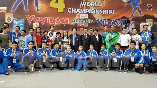 Vietnam se corona en cuarto Torneo Mundial de Vovinam hinh anh 1