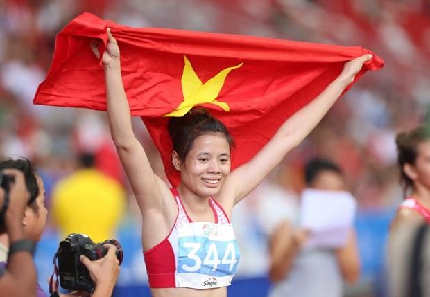 Muestra Vietnam superioridad en Torneo Internacional de Atletismo hinh anh 1