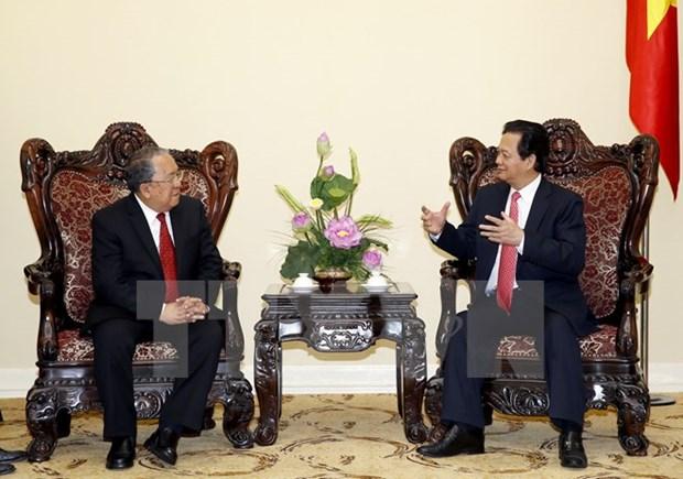 Premier vietnamita recibe a gobernador de Banco central de Myanmar hinh anh 1