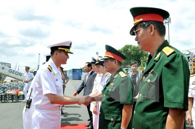 Buque de Armada sudcoreana arriba a Ciudad Ho Chi Minh hinh anh 1