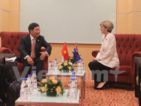 Vicepremier vietnamita se reune con funcionarias de UE y Australia hinh anh 1