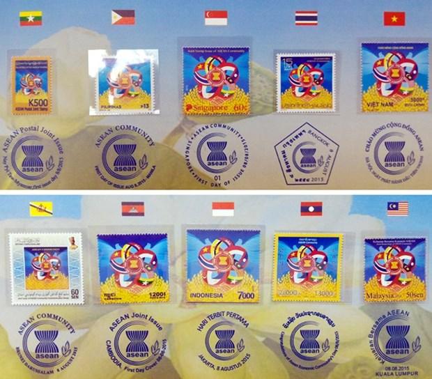 Presentan en Hanoi muestra de sello comun de ASEAN hinh anh 2