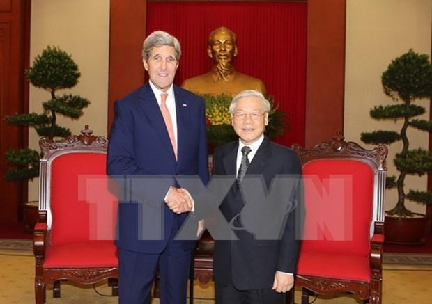 Lider partidista elogia contribucion de Kerry a lazos Vietnam-EE.UU. hinh anh 1
