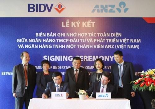 BIDV firma acuerdo de cooperacion con ANZ hinh anh 1