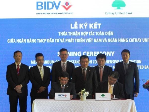 BIDV firma contrato de prestamo sindicado internacional hinh anh 1