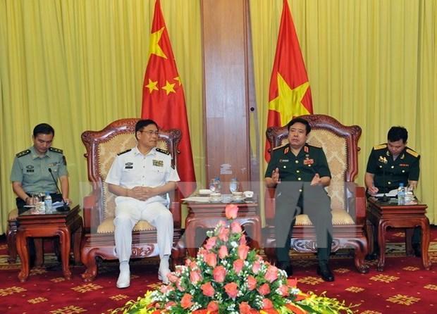 Ministro de defensa recibe a alto oficial de ejercito chino hinh anh 1