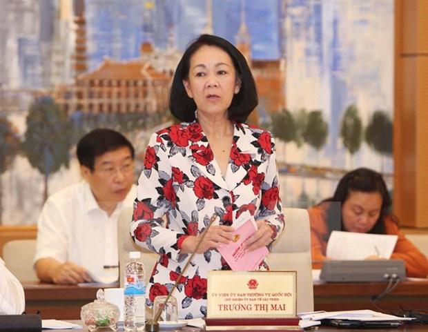 Comite parlamentario analiza borradores de importantes leyes hinh anh 1