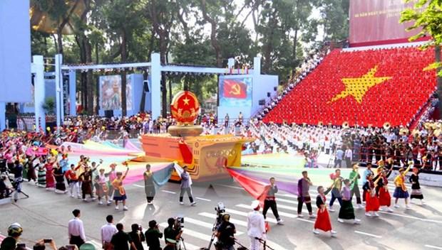 Miles de vietnamitas desfilaran por grandiosas efemerides nacionales hinh anh 1