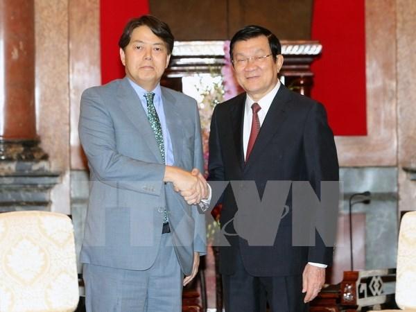 Presidente vietnamita resalta cooperacion agricola con Japon hinh anh 1