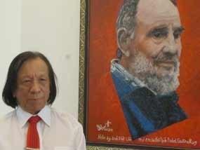 Pintor vietnamita rinde homenaje a Fidel Castro hinh anh 1