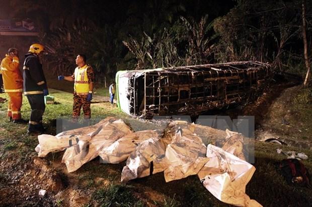 Cambodia: Al menos 12 muertos por accidente de bus hinh anh 1