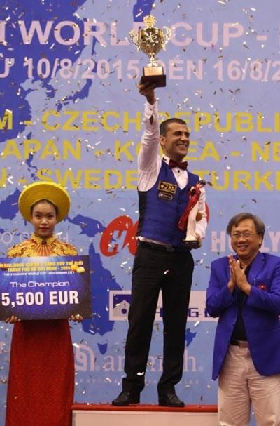 Billarista turco conquista copa mundial ciudad Ho Chi Minh hinh anh 1