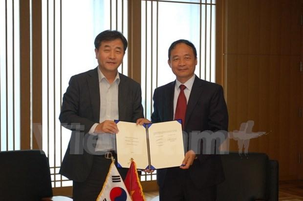 VNA y Yonhap firman memorando de cooperacion hinh anh 1