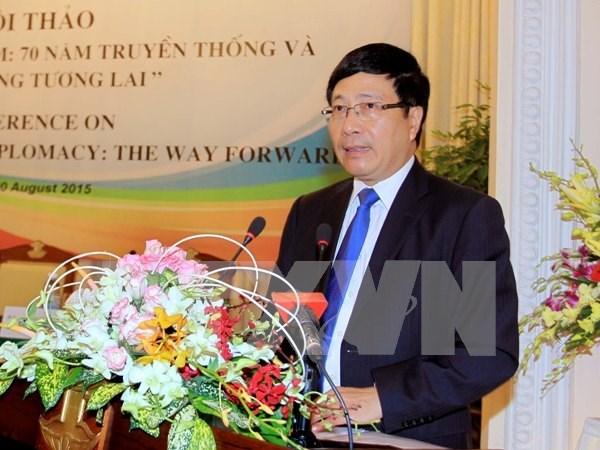 Diplomacia de Vietnam aporta a la paz regional y mundial hinh anh 1