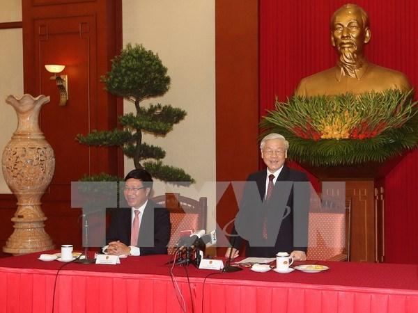 Lider partidista destaca desempeno de la diplomacia vietnamita hinh anh 1