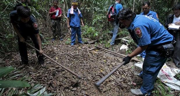 Malasia descubre fosas comunes cerca de frontera con Tailandia hinh anh 1