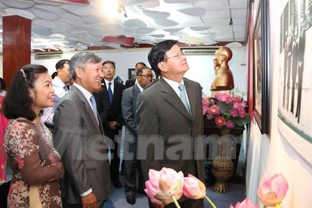Exhibicion en Vientiane sobre diplomacia vietnamita hinh anh 1