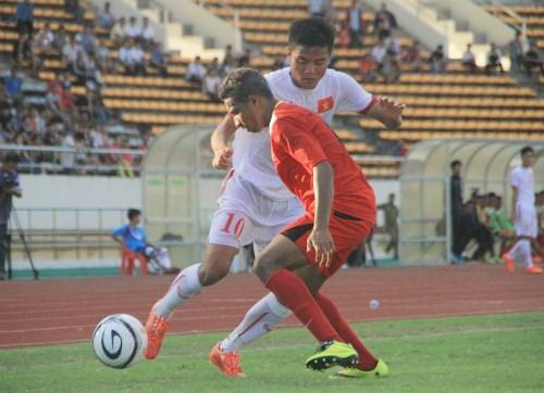 Vietnam logra primera victoria en torneo regional de futbol sub19 hinh anh 1