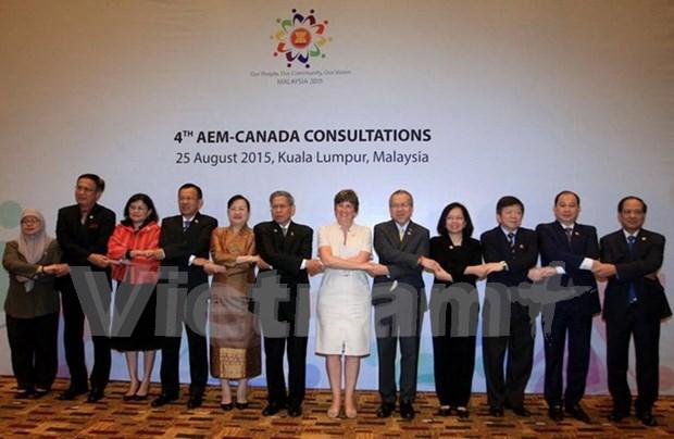 ASEAN y Canada fijan a multiplicar trasiego comercial hinh anh 1
