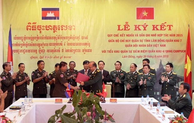 Provincias vietnamita y cambodiana impulsan cooperacion militar hinh anh 1