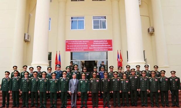 Resaltan colaboracion en defensa entre Vietnam y Laos hinh anh 1