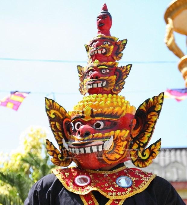 Empenado khmer en conservar valor de misteriosas mascaras hinh anh 14
