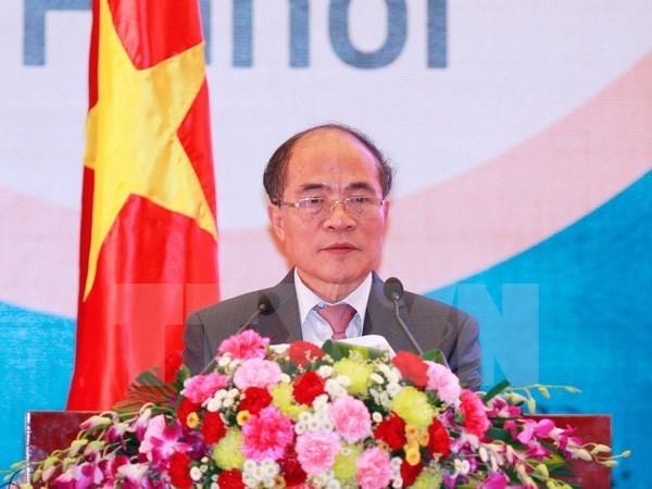 Lider parlamentario vietnamita parte en viaje oficial a EE.UU. hinh anh 1