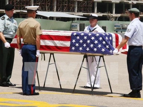 Repatrian restos de soldados estadounidenses desaparecidos en accion hinh anh 1