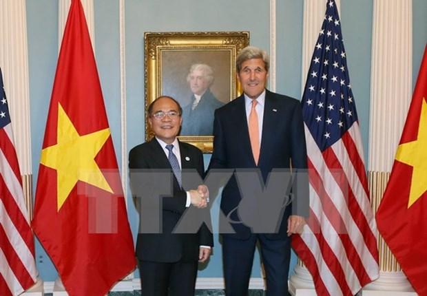 Lider parlamentario dialoga con secretario de Estado de EE.UU. hinh anh 1