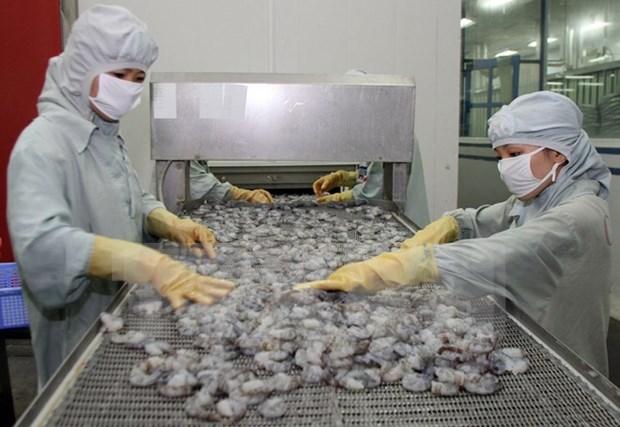Venta vietnamita de camarones a EE.UU. crecera en restantes meses hinh anh 1