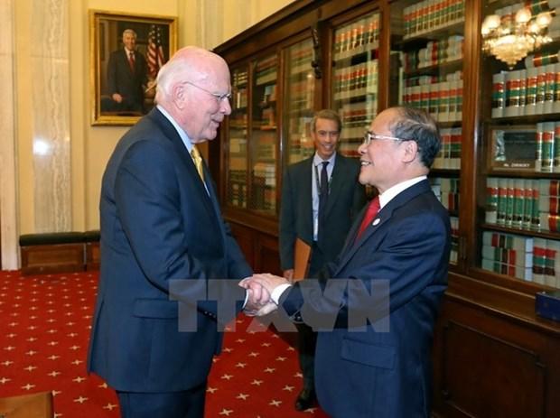 Dirigente parlamentario vietnamita concluye visita oficial a EE.UU. hinh anh 1